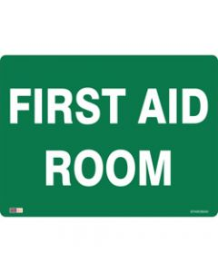 SAFETY SIGNAGE - EMERGENCY,First Aid Room,450mmx600mm Polypropylene