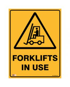 SAFETY SIGNAGE - WARNING,Fork In Use 450mmx600mm Metal