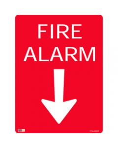SAFETY SIGNAGE - FIRE,Fire Alarm W/ Arrow,450mmx600mm Metal