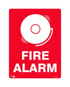 SAFETY SIGNAGE - FIRE,Fire Alarm (Picture),450mmx600mm Polypropylene