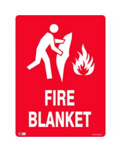 SAFETY SIGNAGE - FIRE,Fire Blanket,450mmx600mm Metal