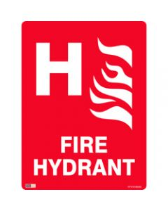 SAFETY SIGNAGE - FIRE,Fire Hydrant W/ H,450mmx600mm Polypropylene