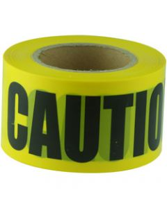 MAXISAFE BARRICADE TAPE,CAUTION Black On Yellow,75mm x 100m