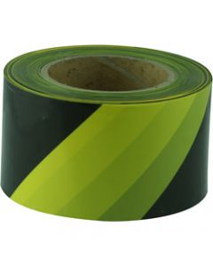 MAXISAFE BARRICADE TAPE,Yellow & Black 75mm x 100m