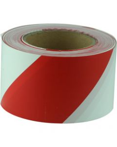 MAXISAFE BARRICADE TAPE,Red & White 75mm x 100m