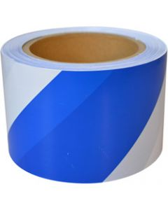 MAXISAFE BARRICADE TAPE,Blue & White 75mm x 100m