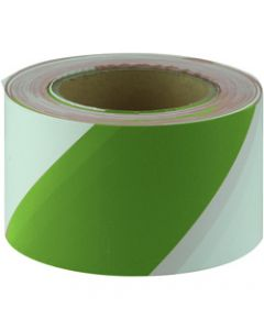 MAXISAFE BARRICADE TAPE,Green & White 75mm x 100m