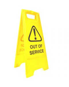 CLEANLINK SAFETY SIGN,Out Of Service,32x31x65cm Yellow