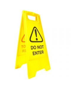 CLEANLINK SAFETY SIGN,Do Not Enter,32x31x65cm Yellow