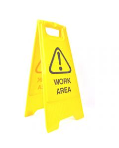 CLEANLINK SAFETY SIGN,Work Area,32x31x65cm Yellow