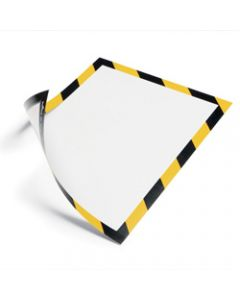 DURABLE DURAFRAME SECURITY,A4 Yellow/Black - Pack of 2