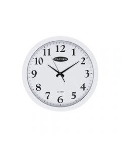 CARVEN WALL CLOCK,450mm White Frame