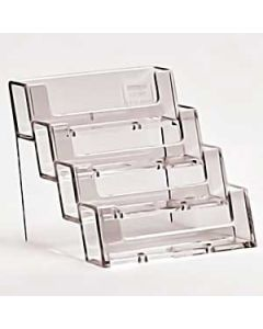 Generic 4 tier counter business card holder 98 x 92 x 93mm - each