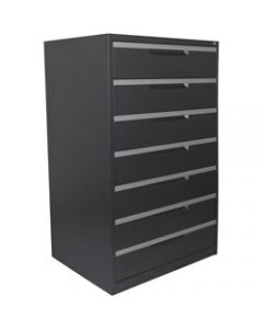 STEELCO 7 DRAWER,Multimedia Cabinet,H1320xW790xD620