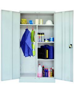 GO STEEL WARDROBE CUPBOARD,Metal Combination,Silver Grey