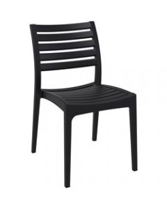 ARES HOSPITALITY CHAIR,Black,480W x 580D x 820H x 450 Seat