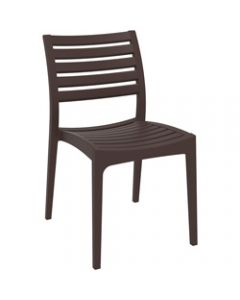 ARES HOSPITALITY CHAIR,Chocolate,480W x 580D x 820H x 450 Seat