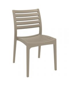 ARES HOSPITALITY CHAIR,Taupe,480W x 580D x 820H x 450 Seat