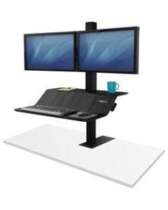 FELLOWES LOTUS VE DUAL MONITOR,Sit Stand Workstation