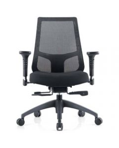 INSPIRE MESH BACK OFFICE CHAIR,Black Fabric Seat+Synchron,Adjustable Arms+Seat Slider
