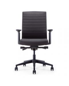 INTELL FABRIC OFFICE CHAIR,Black Fabric Seat+Synchron,Adjustable Arms+Seat Slider