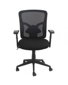 FLUENT MESH BACK OFFICE CHAIR,Black Fabric Seat+Synchron,Adjustable Arms & Back Height