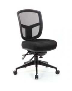 MIAMI TASK,Mesh Back Seat Slide,Thick Moulded Foam Seat
