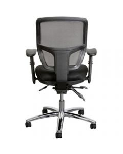 MIAMI TASK,Mesh Back Seat Slide With Arms,Thick Moulded Foam Seat