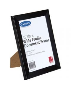 CARVEN DOCUMENT FRAME,A5 Wall Mountable Black