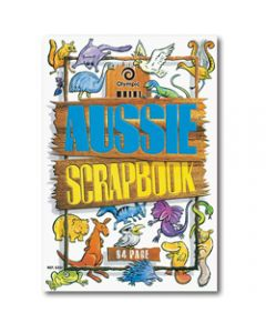 OLYMPIC SCRAP BOOK,335mm x 240mm Aussie,67gsm 64 Pages