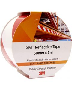 3M 7930 REFLECTIVE TAPE,50mmx3m,Red/White