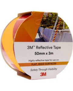 3M 7930 REFLECTIVE TAPE,50mmx3m,Yellow/Red