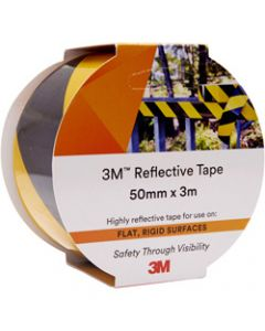3M 7930 REFLECTIVE TAPE,50mmx3m,Yellow/Black