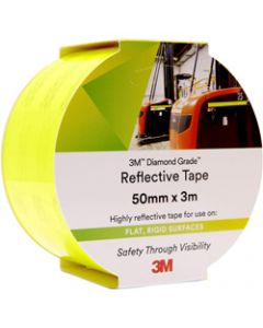 3M 983 REFLECTIVE TAPE,Diamond, 50mmx3m,23 - Yellow/Green
