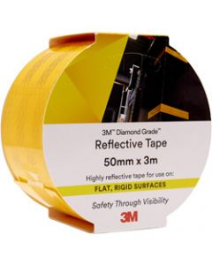 3M 983 REFLECTIVE TAPE,Diamond, 50mmx3m,71 - Yellow