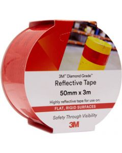 3M 983 REFLECTIVE TAPE,Diamond, 50mmx3m,72 - Red