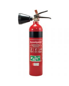 EXELGARD CO2 EXTINGUISHER,Co2 Fire Extinguisher 2kg