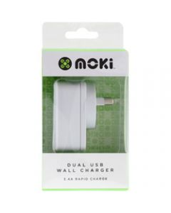 Moki Dual USB Wall Charger,White