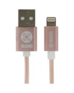Moki Braided Lightning Cable,Rose Gold