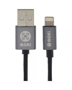 Moki Braided Lightning Cable,Gun Metal