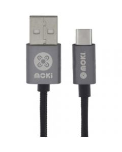 Moki Type-C Braided Cable,Gun Metal