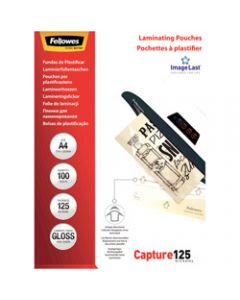 Fellowes Laminating,Pouches A4 125 Micron,Pack of 100