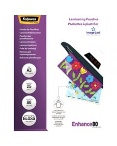 Fellowes Laminating,Pouches A3 80 Micron,Pack of 25