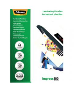 Fellowes Laminating,Pouches A4 100 Micron,Pack of 100