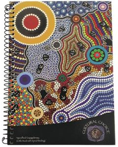 Cultural Choice spiral bound A5 note book with pocket 200 pages black - Pack of 10