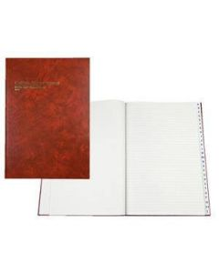 Account Book A4 Hardcover 84 Leaf Indexed Through