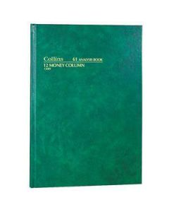 Account Book A4 Hardcover 84 Leaf 12 Money Column