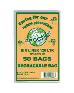 Bin Liner Envirochoice 120L 1115X905Mm Clear Ct250