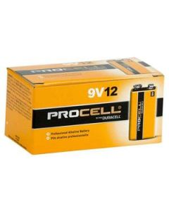 Battery Procell Alkaline 9V Industrial Bulk Box12
