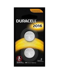 Battery Duracell Lithium Coin 3V Cell 2016 2Pk